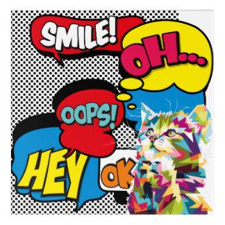 Colorful Cat Comic Hope Iconic Pop Art