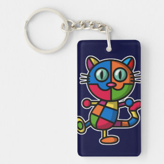 colorful cat keychain