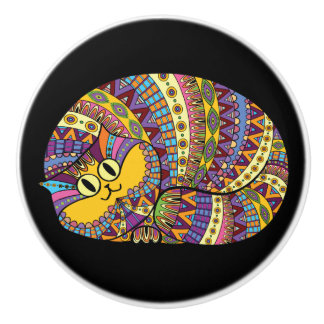 Colorful Cat Knobs - SRF Ceramic Knob