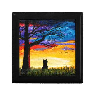 Colorful Cat Oak Tree Landscape Creationarts Gift Box