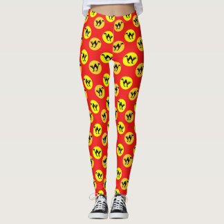 Colorful cat pattern leggings
