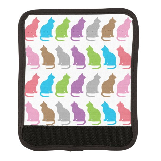 Colorful cat pattern luggage handle wrap