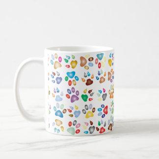 Colorful Cat Paw Print Mug