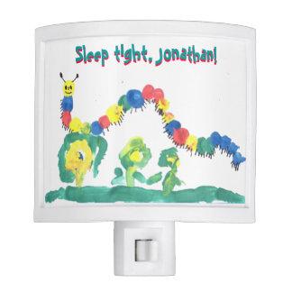 Colorful Caterpillar Sleep Tight Customizable Nite Light