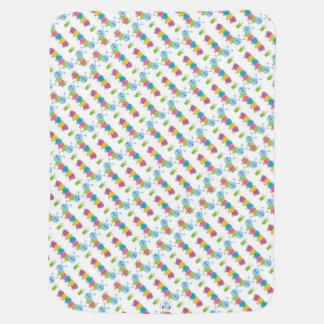 Colorful Caterpillars Stroller Blankets