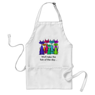 Colorful Cats Apron