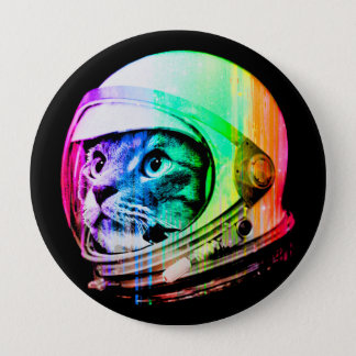 colorful cats - Cat astronaut - space cat 4 Inch Round Button
