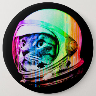 colorful cats - Cat astronaut - space cat 6 Inch Round Button