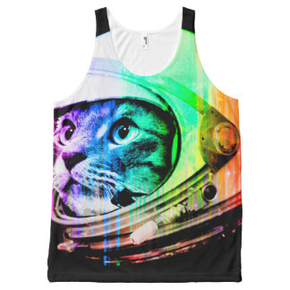 colorful cats - Cat astronaut - space cat All-Over-Print Tank Top