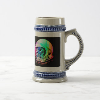 colorful cats - Cat astronaut - space cat Beer Stein