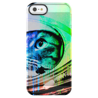 colorful cats - Cat astronaut - space cat Clear iPhone SE/5/5s Case