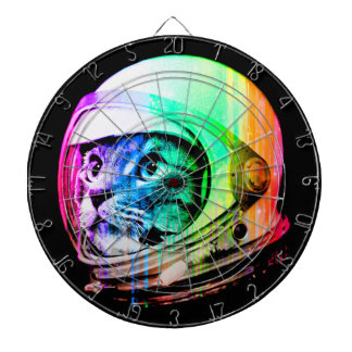 colorful cats - Cat astronaut - space cat Dartboard