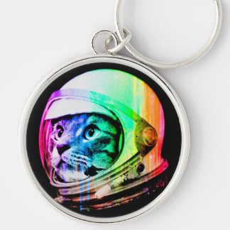 colorful cats - Cat astronaut - space cat Keychain