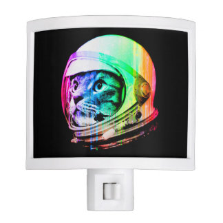 colorful cats - Cat astronaut - space cat Night Lites