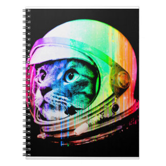 colorful cats - Cat astronaut - space cat Notebooks