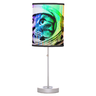 colorful cats - Cat astronaut - space cat Table Lamp