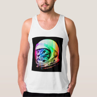 colorful cats - Cat astronaut - space cat Tank Top