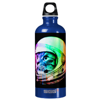 colorful cats - Cat astronaut - space cat Water Bottle