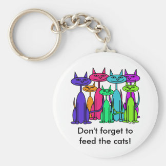 Colorful Cats Keychain
