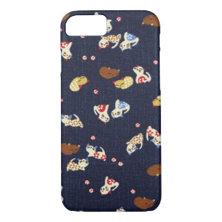 Colorful Cats on Fabric iPhone 7 iPhone 7 Case