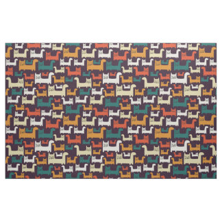 Colorful Cats Pattern fabric