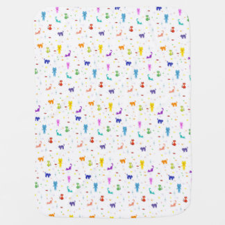 Colorful cats pattern happy funny texture baby blankets