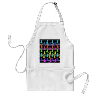 Colorful cats pattern standard apron