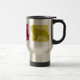 Colorful Cavalier King Charles Spaniel Silhouettes Travel Mug