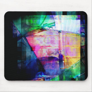Colorful CD Cases Collage Mouse Pad