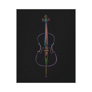 Colorful Cello Canvas Print