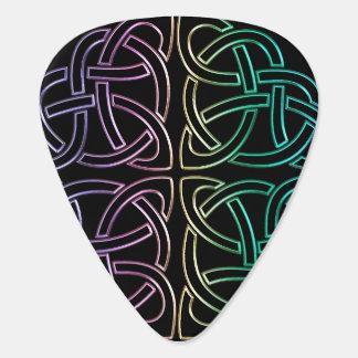 Colorful Celtic Knot Guitar Pick