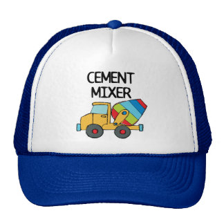 Colorful Cement Mixer Hats
