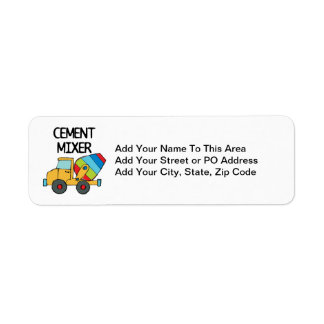 Colorful Cement Mixer Return Address Label