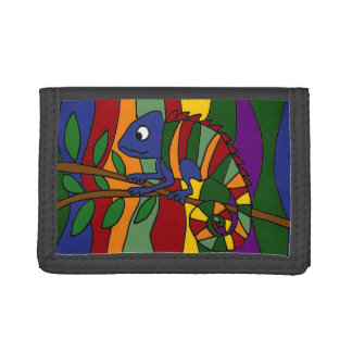 Colorful Chameleon Art Wallet