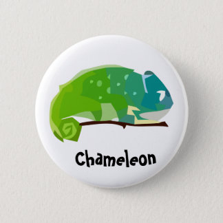 Colorful Chameleon Button