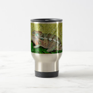 Colorful Chameleon with open mouth Travel Mug