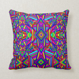 Colorful Chaos 10 Throw Pillow