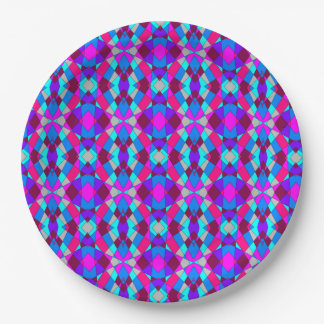 Colorful Chaos 27 Paper Plate