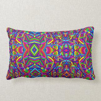 Colorful Chaos 2 Lumbar Pillow