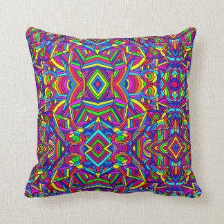 Colorful Chaos 2 Throw Pillow