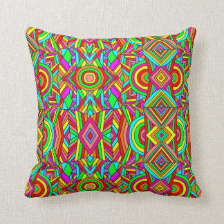 Colorful Chaos 4 Throw Pillow