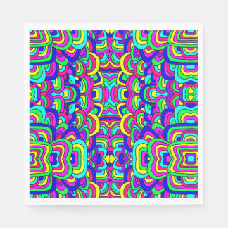 Colorful Chaos 5 Disposable Napkin