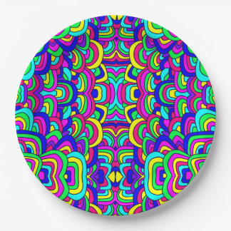 Colorful Chaos 5 Paper Plate