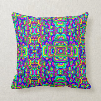 Colorful Chaos 5 Throw Pillow
