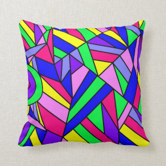 Colorful Chaos 7 Throw Pillow