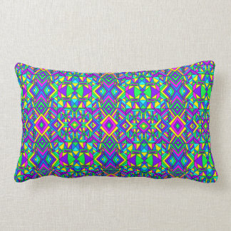 Colorful Chaos 8 Lumbar Pillow