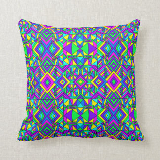Colorful Chaos 8 Throw Pillow