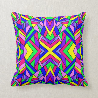 Colorful Chaos 9 Throw Pillow