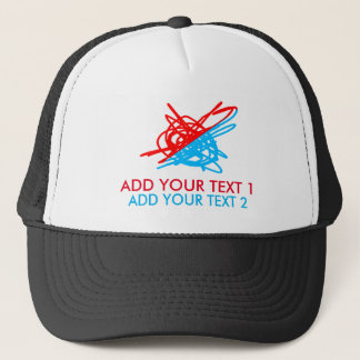 Colorful Chaos And Custom Text Trucker Hat