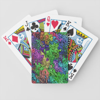 Colorful Chaotic Abstract Bicycle Playing Cards